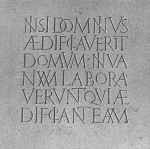 Inscription by the great Jean-Claude Lamborot; graveur lapidaire.