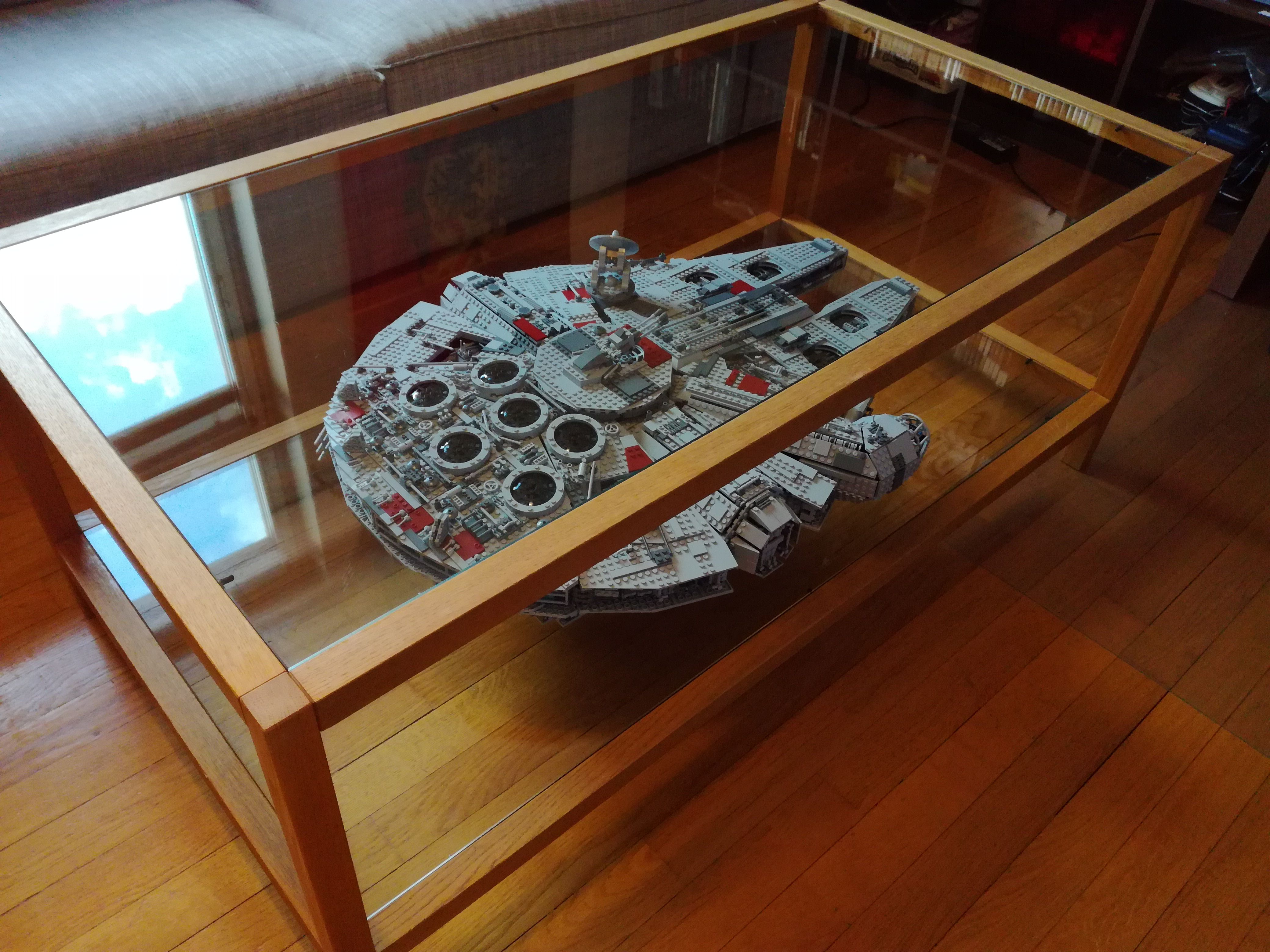 So I Built A Big Millenium Falcon Lego Display Lego Display Case Millenium Falcon [ 3120 x 4160 Pixel ]