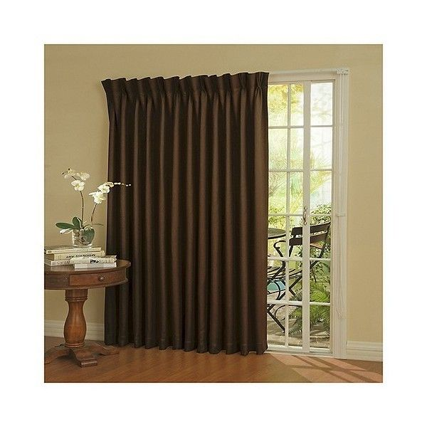 Eclipse Patio Door Thermaweave Blackout Patio Door Curtain Panel ($97) ❤  Liked On Polyvore