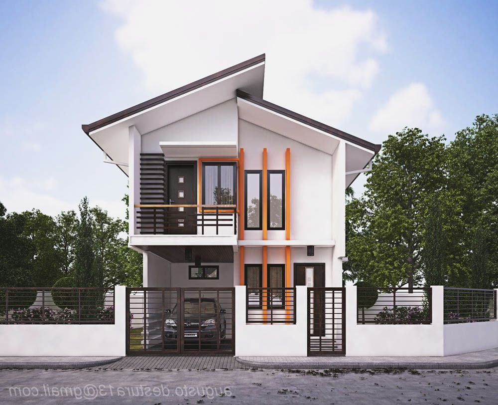 Incoming a type house design house design hd wallpaper for Simple modern house