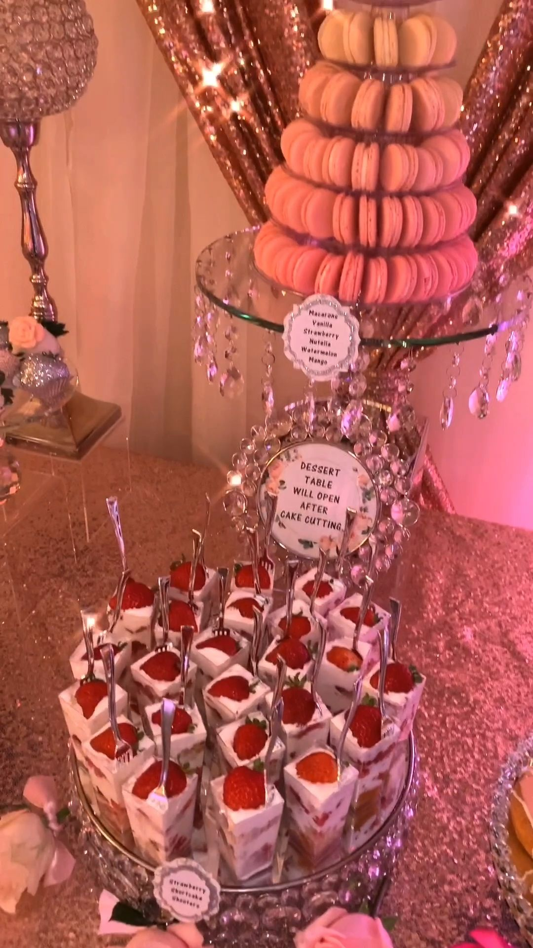 Rose Gold & Ivory Dessert Table -   12 sweet 16 desserts Table ideas