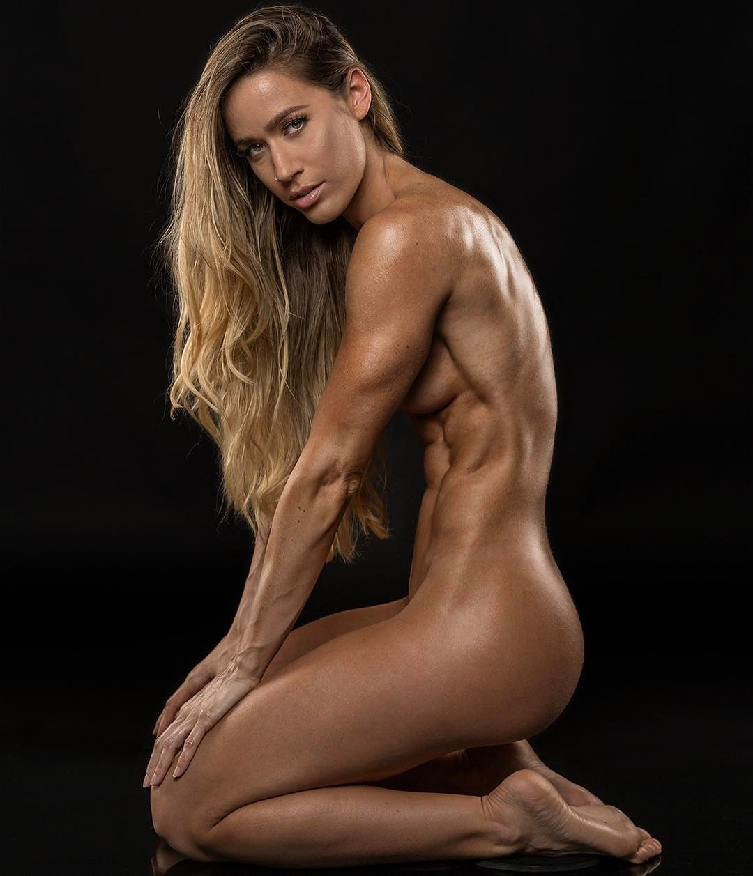 Nude Body Of The Beautiful Fitness Girl Stock Image