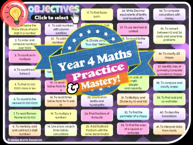 Year 4 KS2 Maths \