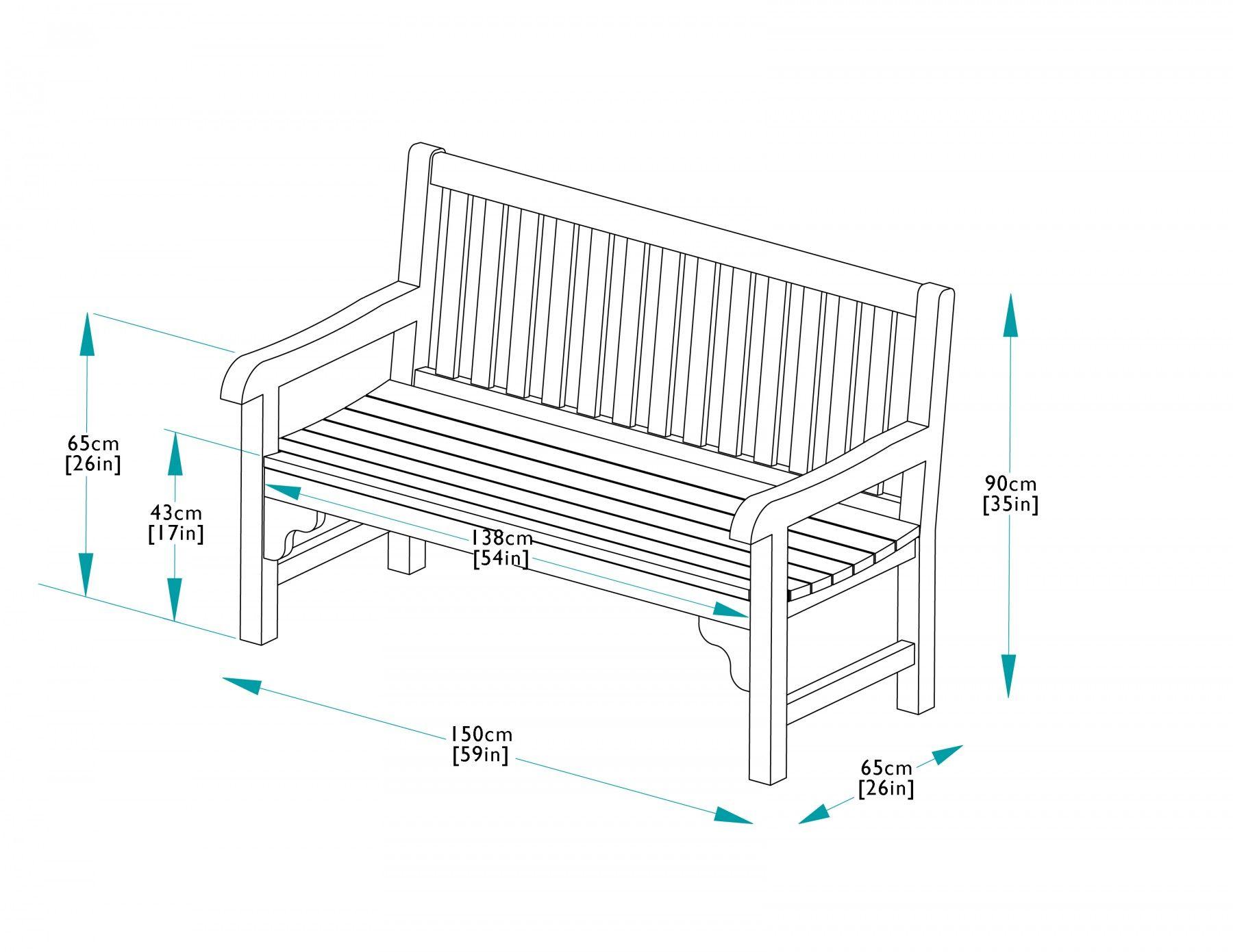 Park Bench Dimensions 150cm Teak Park Bench Bridgman