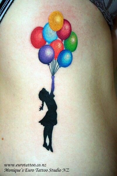 Love The Balloons Balloon Tattoo Tattoos Banksy Tattoo