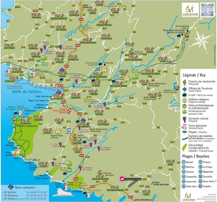 Tourist map of surroundings of Propriano Maps Pinterest