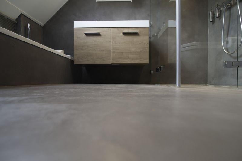 Badkamer Vloer Beton : Betonnen badkamervloer badkamers ideeen badkamer