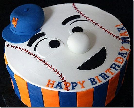 Adorable New York Mets Cakes In 2019 The Mets Baseball