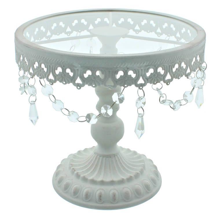 9 5 inch white shabby chic cake stand cakelace accesorios rh pinterest com