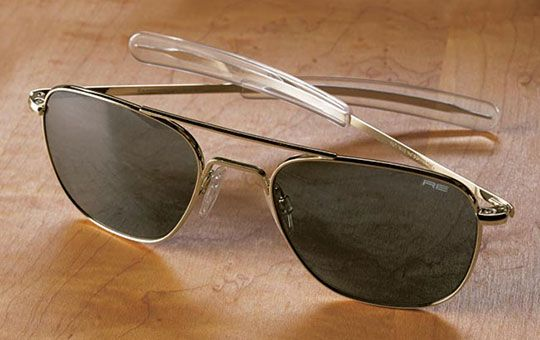 3477e706fb8 Randolph Engineering aviator sunglasses worn by astronauts and fighter  pilots since the Vietnam War.