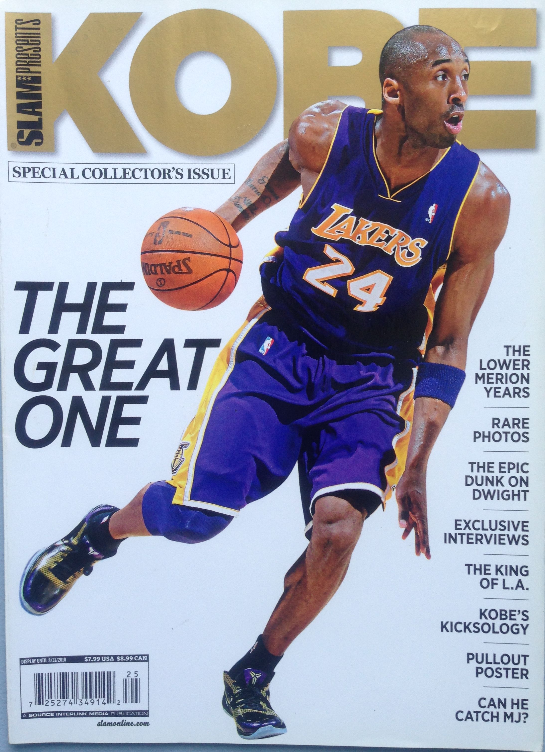 8d2742a38fe SLAM presents the KOBE Special Collector s Issue Basketball Players