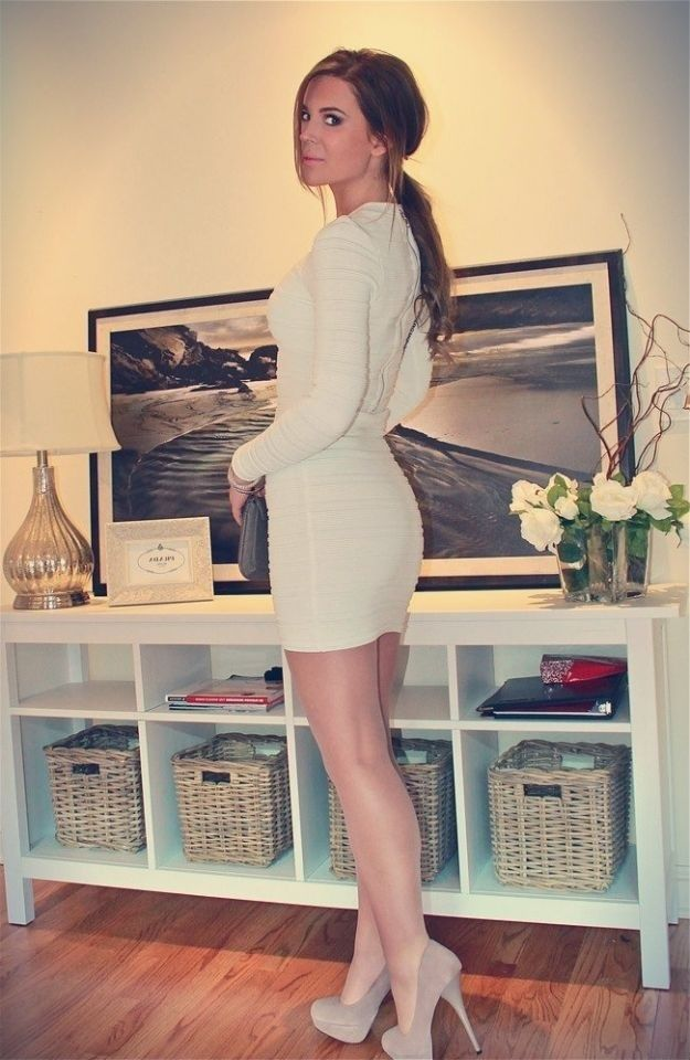dresses and Girls wearing pantyhose short