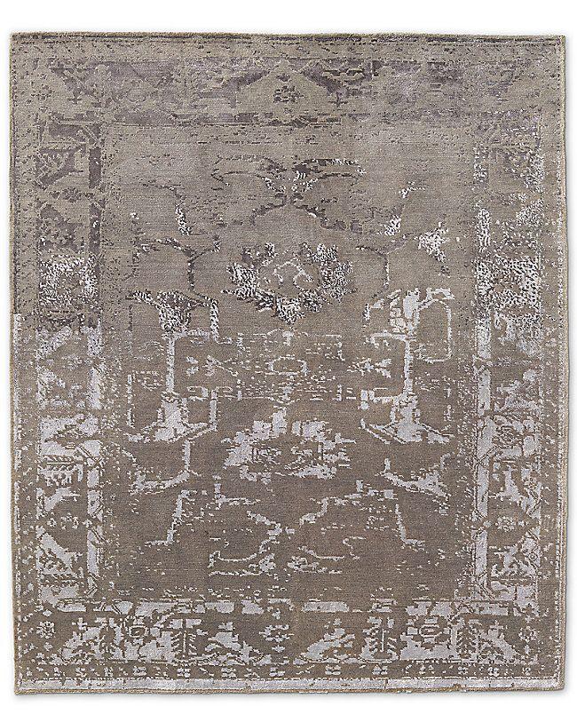 Arte Rug - Silver/White