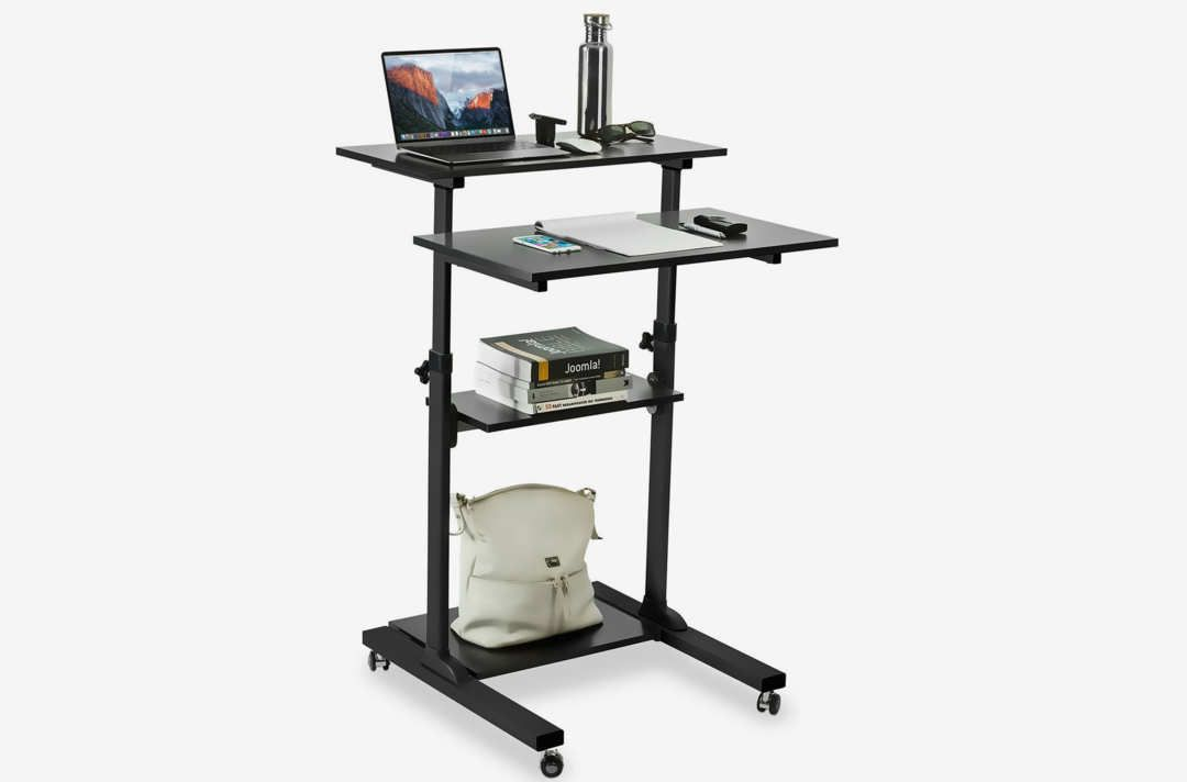 Mount It Mobile Standing Desk With Images Adjustable Height