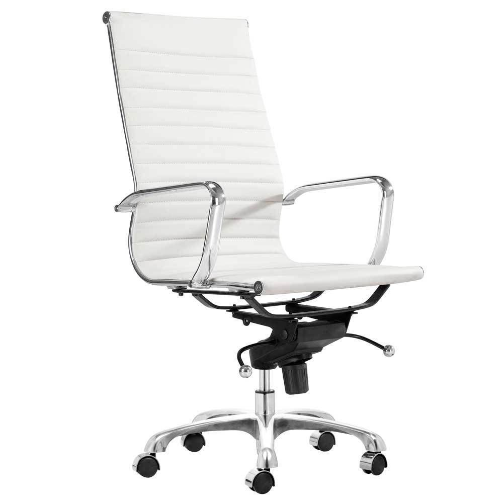 Craft toni high back office chair white black