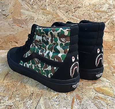 507fe252b76ab6 Custom Vans SK8-HI Bape inspired in 2019