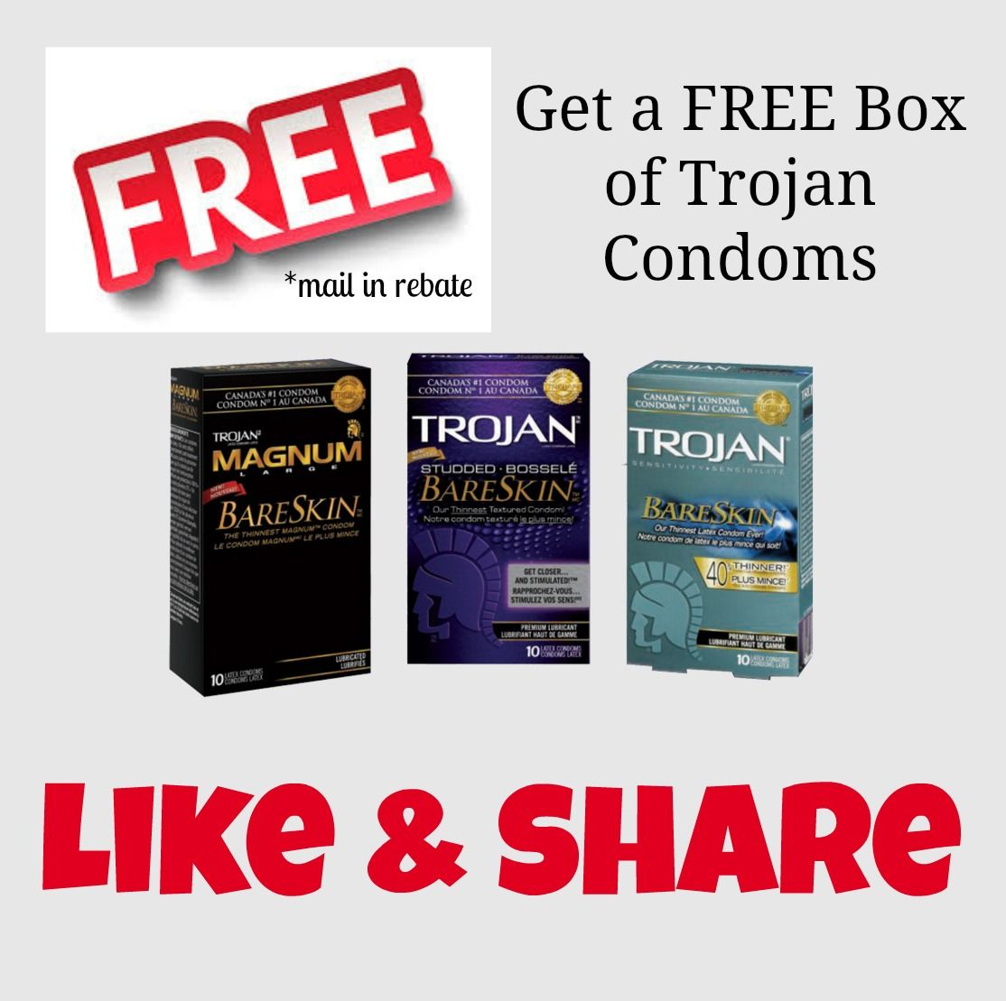 Mail In Rebate Offers >> Free Trojan Condoms And More At Canadianfreestuff Com Mail