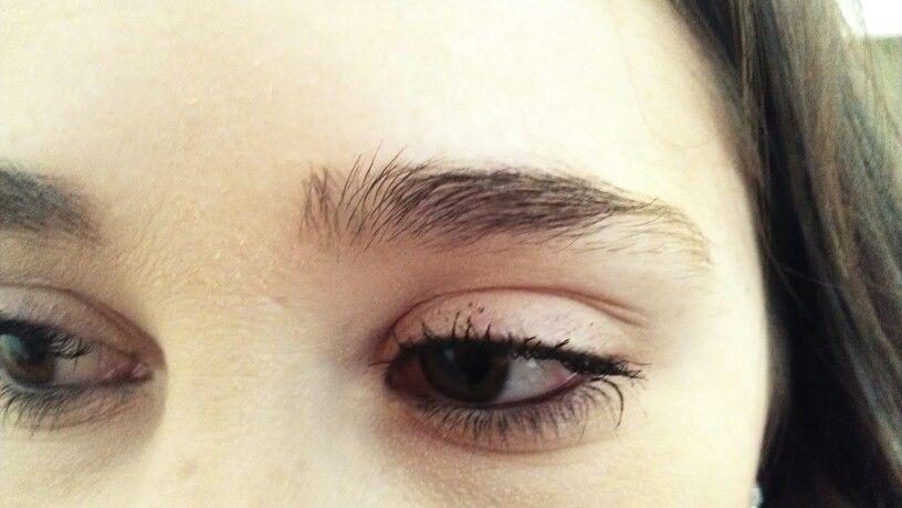 Before Eyebrow threading..