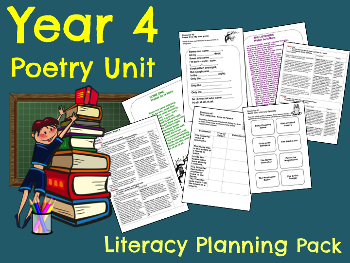 Year 4 Poetry Teaching Resources Poetry Unit Performance Poetry Poetry Teaching Resources