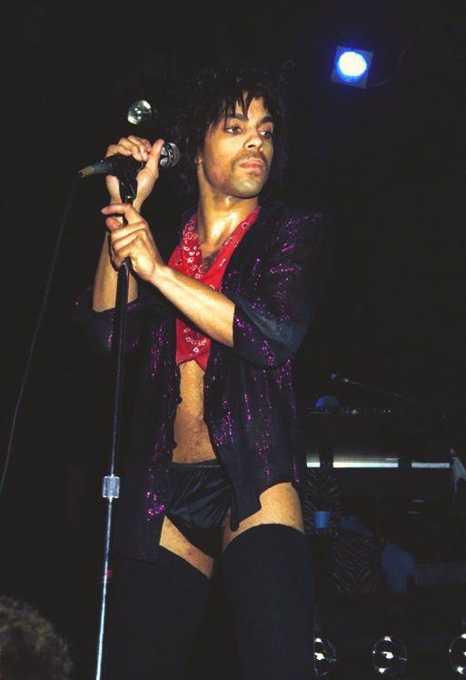 This what Prince sang about in the song Stare. We use to go on stage dressed in our underwear just stare can I help U. Mmmm.