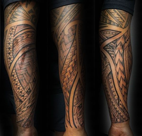 40 Polynesian Sleeve Tattoo Designs For Men Tribal Ink Ideas Full Sleeve Tattoos Tribal Tattoos Tribal Sleeve Tattoos