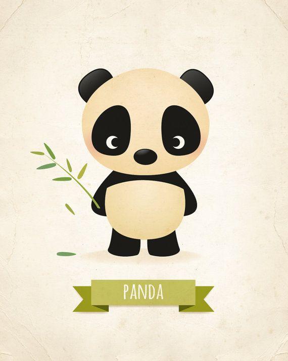 Nursery print Panda print childrens illustration animal art