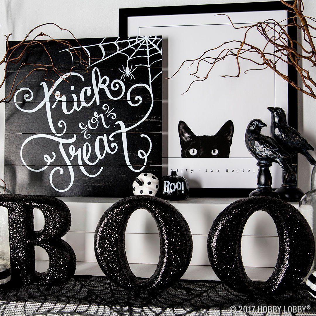 Create spooky-cute halloween decor Just add a bit of black and - black and white halloween decorations