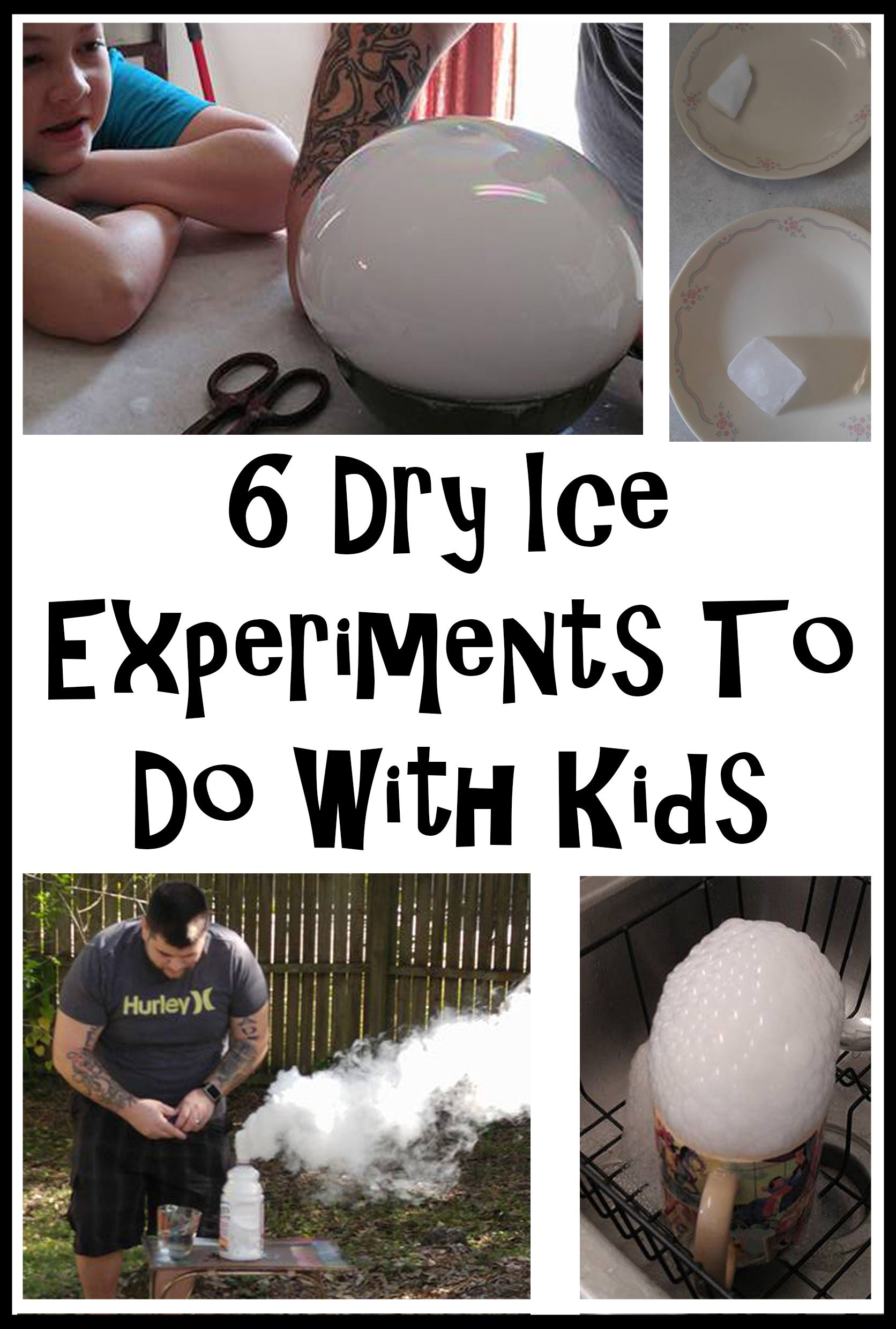 6 Dry Ice Experiments To Do With Kids Dry Ice Bombs