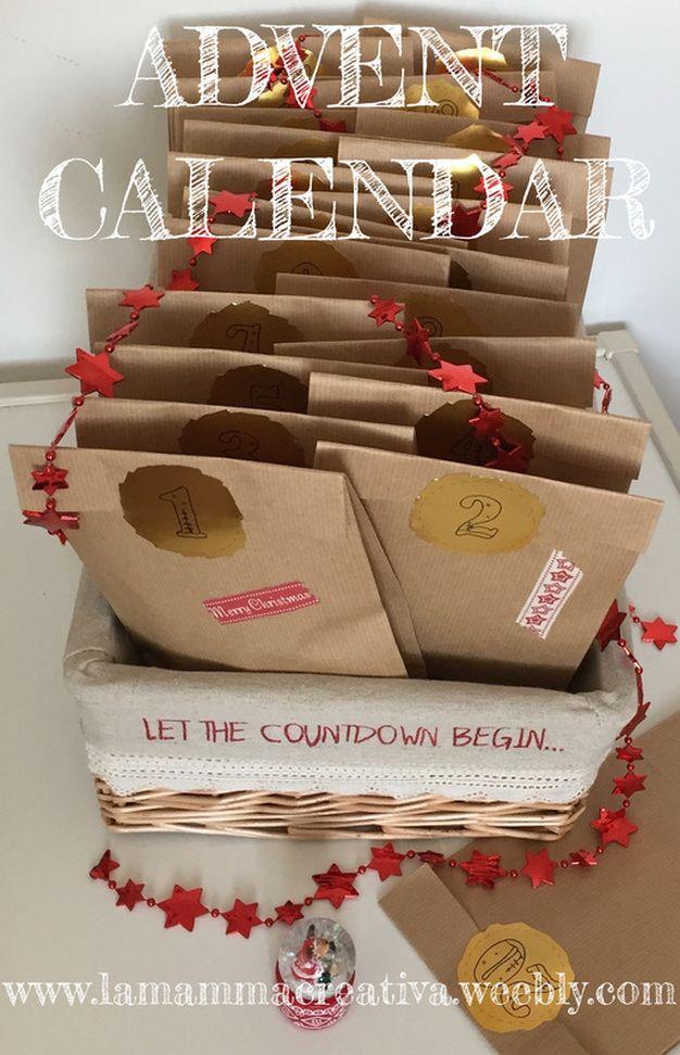 Calendario Avvento Pinterest.Advent Calendar Calendario Dell Avvento Calendario De