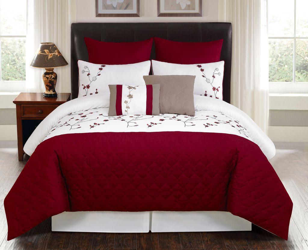 Best 8 Piece King Julian Embroidered Comforter Set Bedding 640 x 480