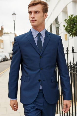 Bright Blue Slim Fit Suit: Jacket | Great suits for men ...