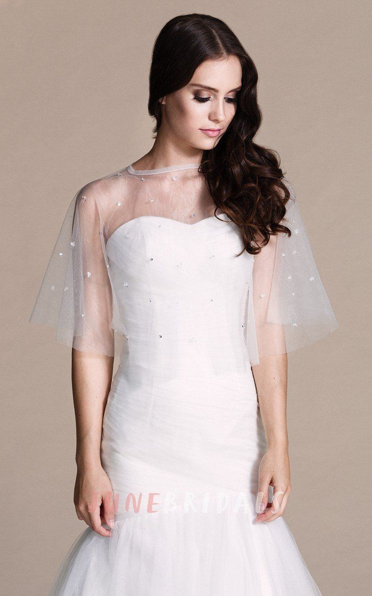 Sweetheart mermaid chiffon dress with illusion style u june bridals
