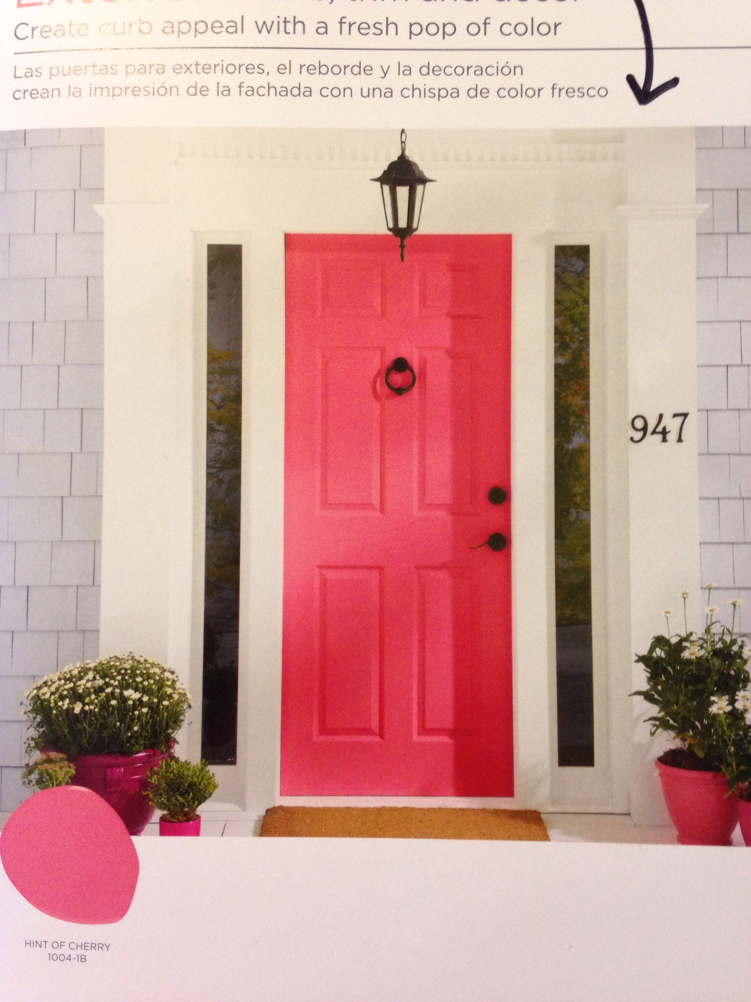 Hint Of Cherry Valspar · ValsparDoor IdeasPaint IdeasChalk PaintFront ...