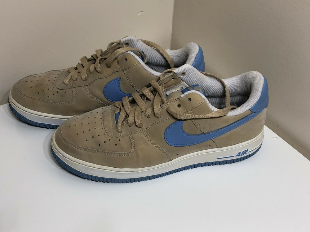 air force 1 blue and tan