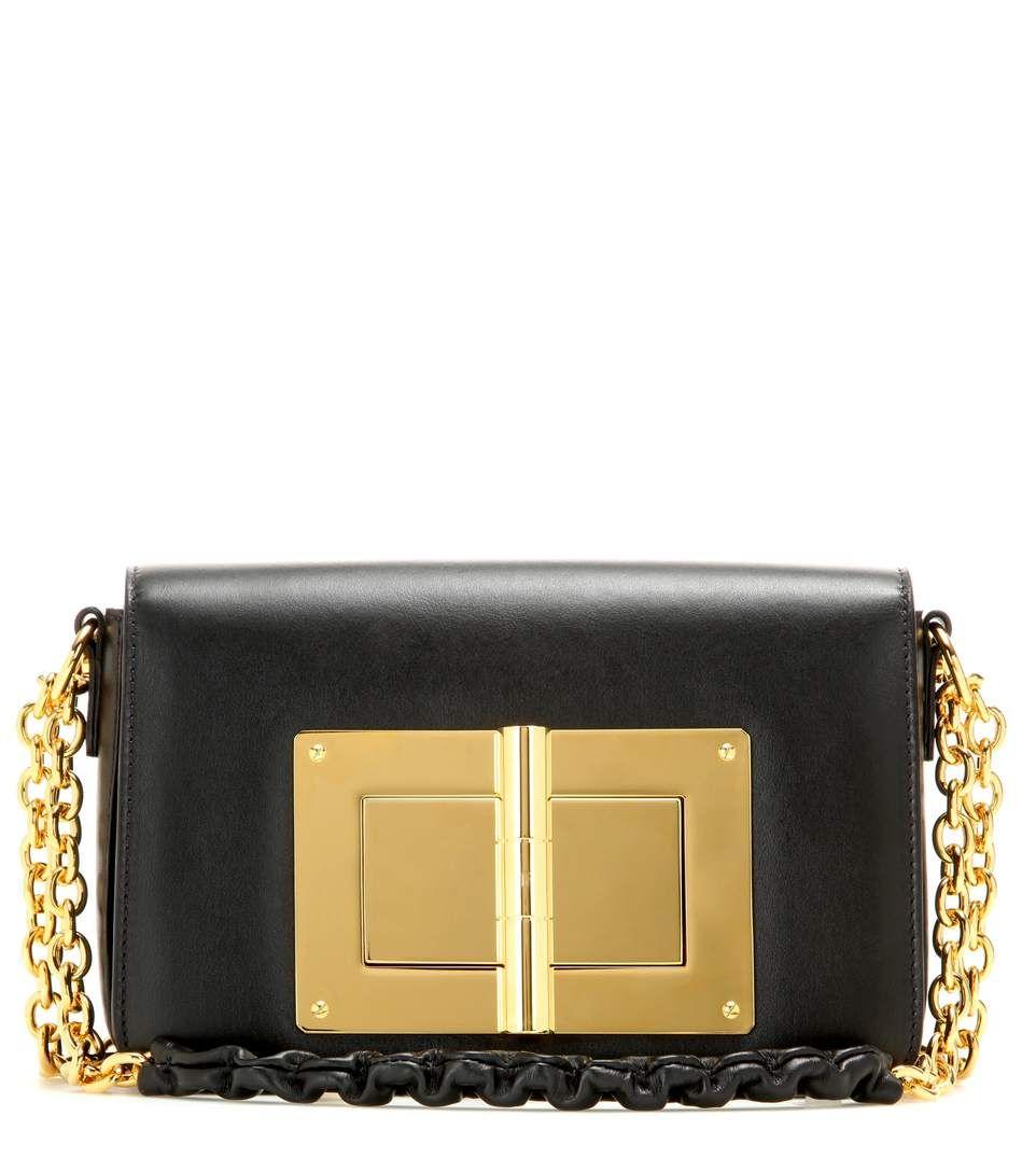 TOM FORD Natalia Large New black leather shoulder bag