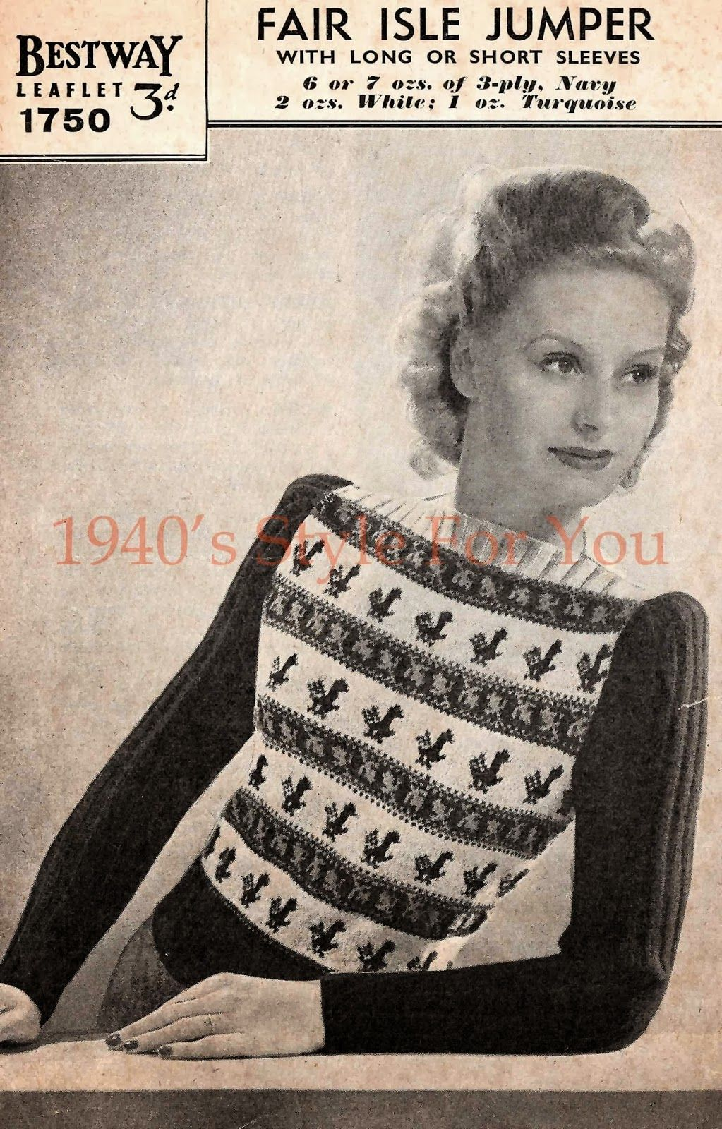 1940s style for you free knitting pattern 1940s fair isle 1940s style for you free knitting pattern 1940s fair isle jumper bestway 1750 bankloansurffo Image collections