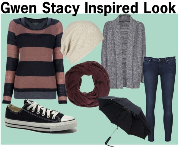 """Gwen Stacy Inspired Look"" by sherylinelc ❤ liked on Polyvore"