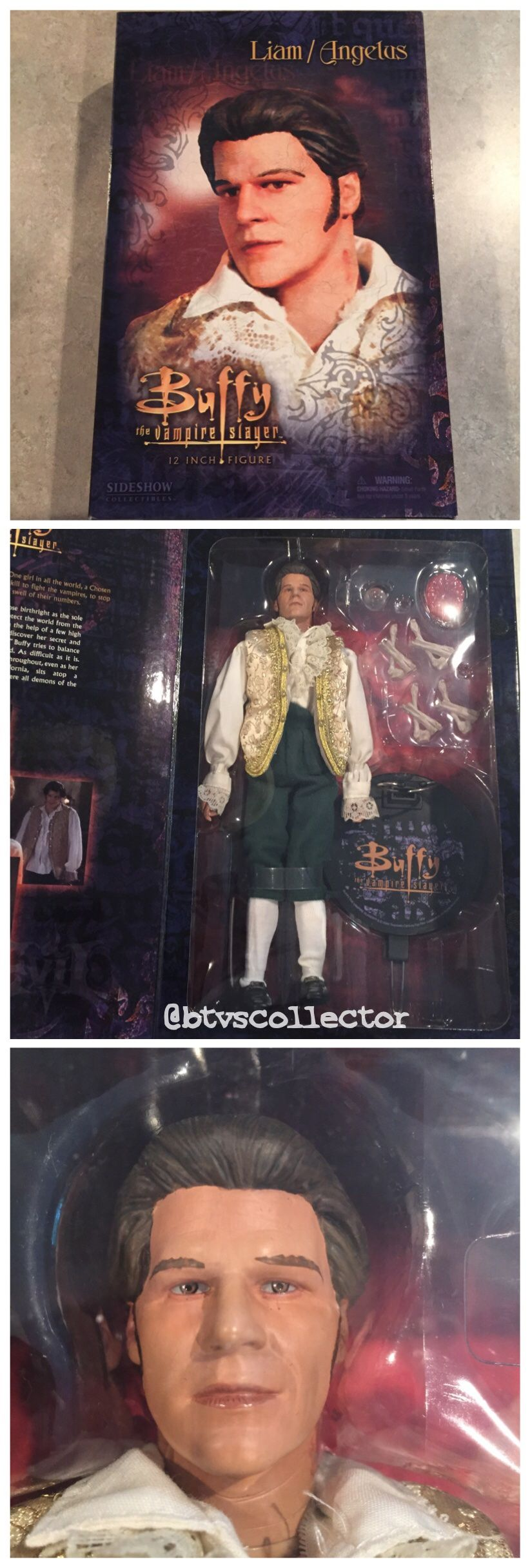 """Sideshow Collectibles (1:6 Scale) 12"""" Buffy the Vampire Slayer Figure - Liam/Angelus. #btvscollector #btvs #buffy #buffythevampireslayer"""