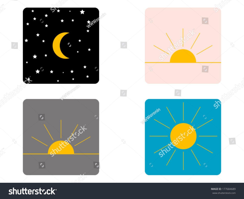 Found On Bing From Www Shutterstock Com Evening Sky Night Clip Art