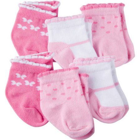 Gerber Baby-girls  3 Pack Bootie Socks