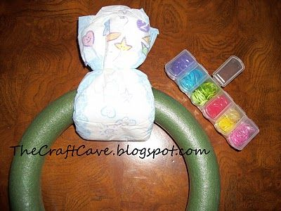 Diaper Wreath Instructions Start By Opening The Diaper And