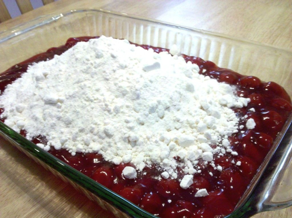 Cherry Cobbler With Cake Mix