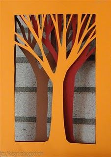 Winter Trees Glimpse Grade 6 Paper Crafts Art Artists For
