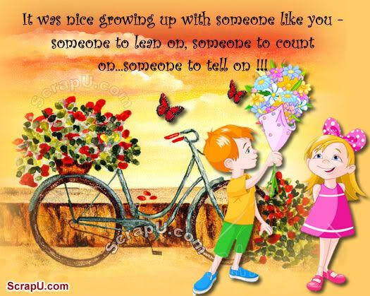 Beautiful Quotes For Facebook Status: Beautiful Sister Brother Quotes