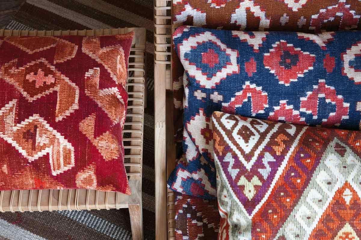 tela tipo kilim 4 modelos, telas & papel
