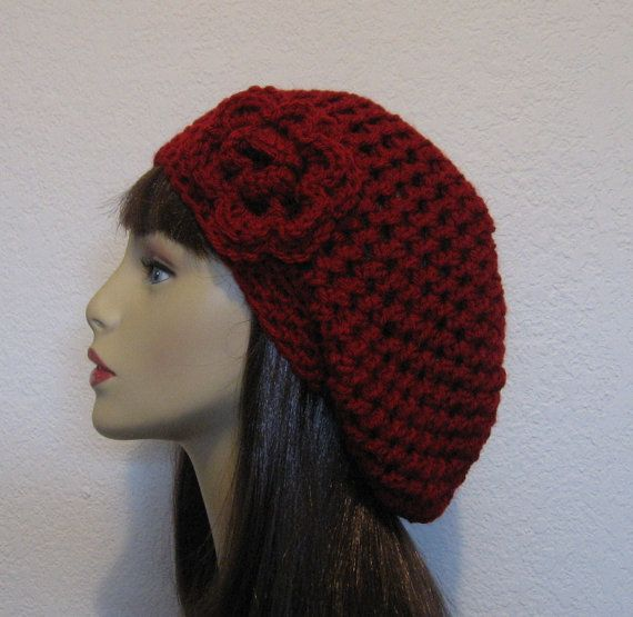 Slouchy Crocheted Hat Beanie