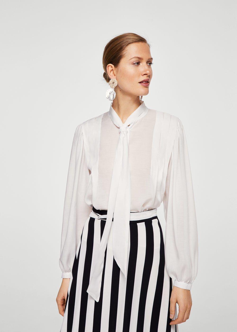 Camicia fiocco collo - Camicie da Donna  532f185f222