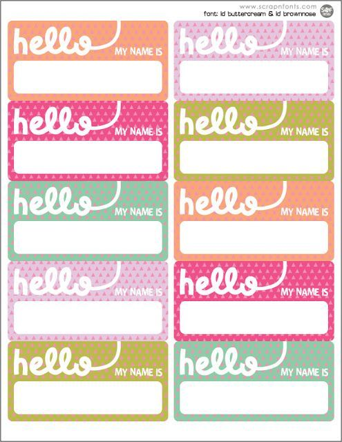 Free printable vintage name tags. The template can also be used ...