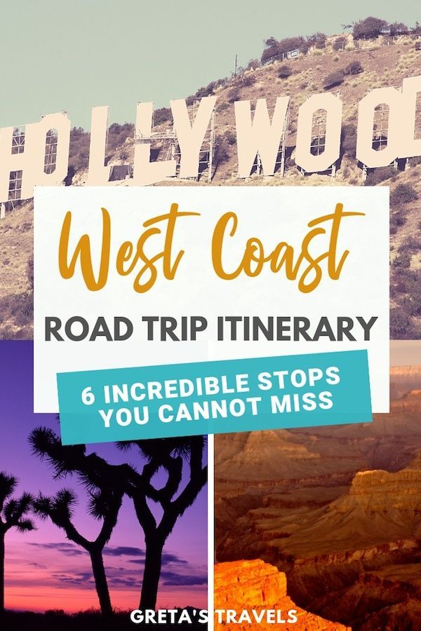 USA West Coast Road Trip Itinerary: 6 Places You Must Visit