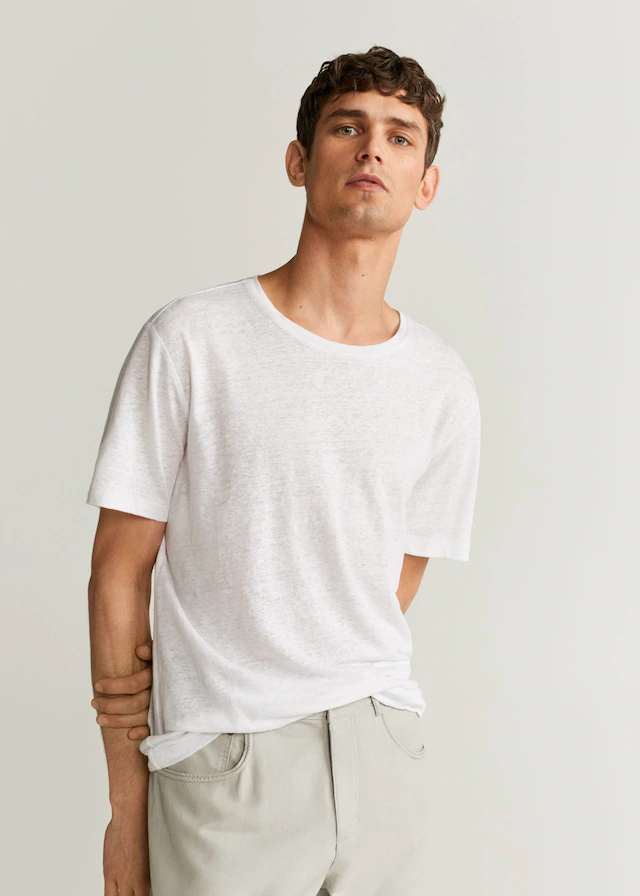 100 Linen T Shirt In 2020 Linen Tshirts T Shirt Mens Tops